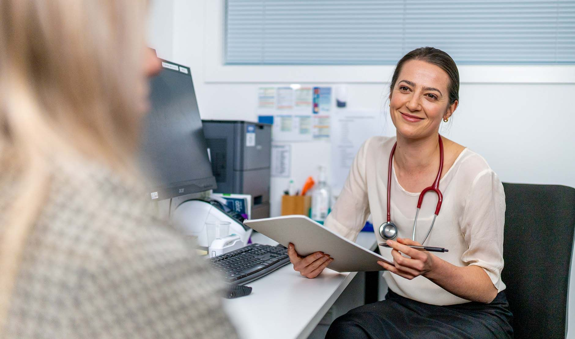 GP in clinic and Vaccinations