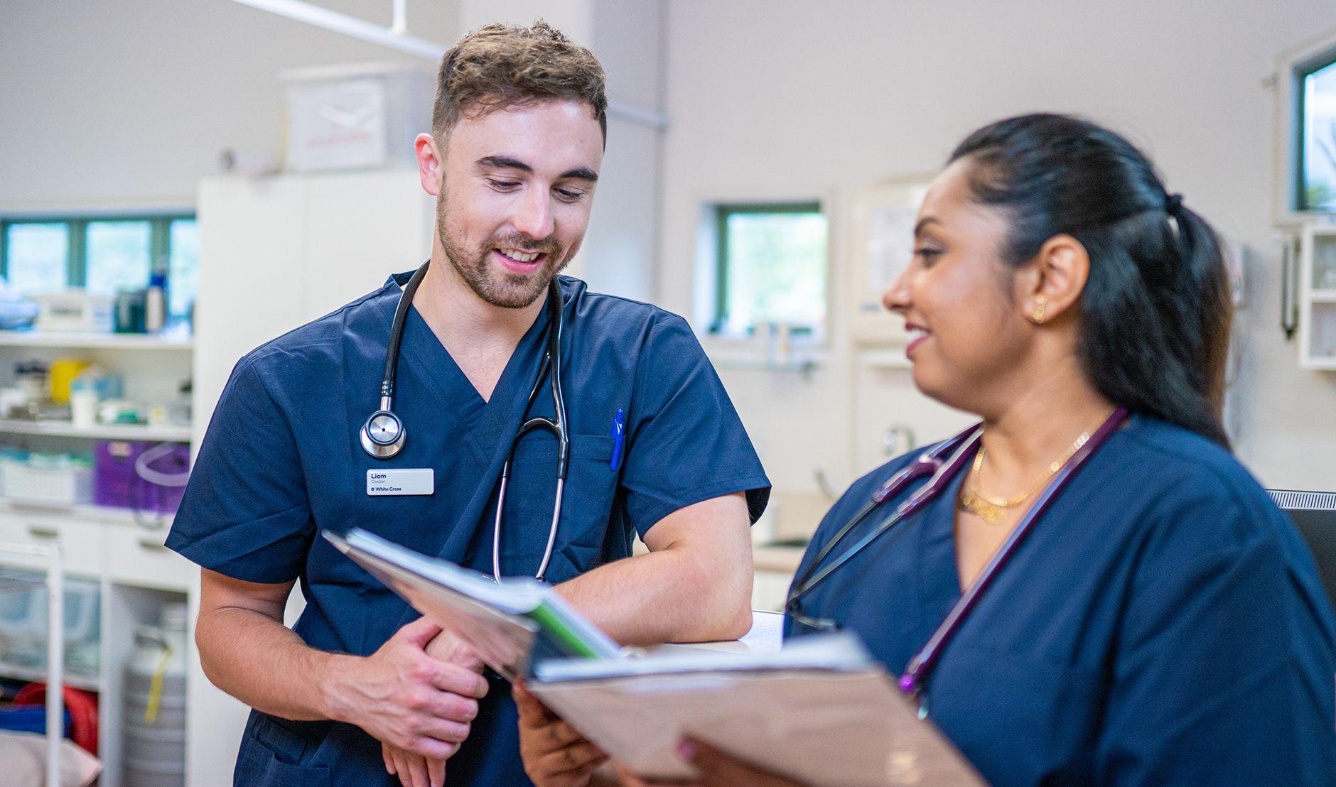 two doctors - doctor patient communication