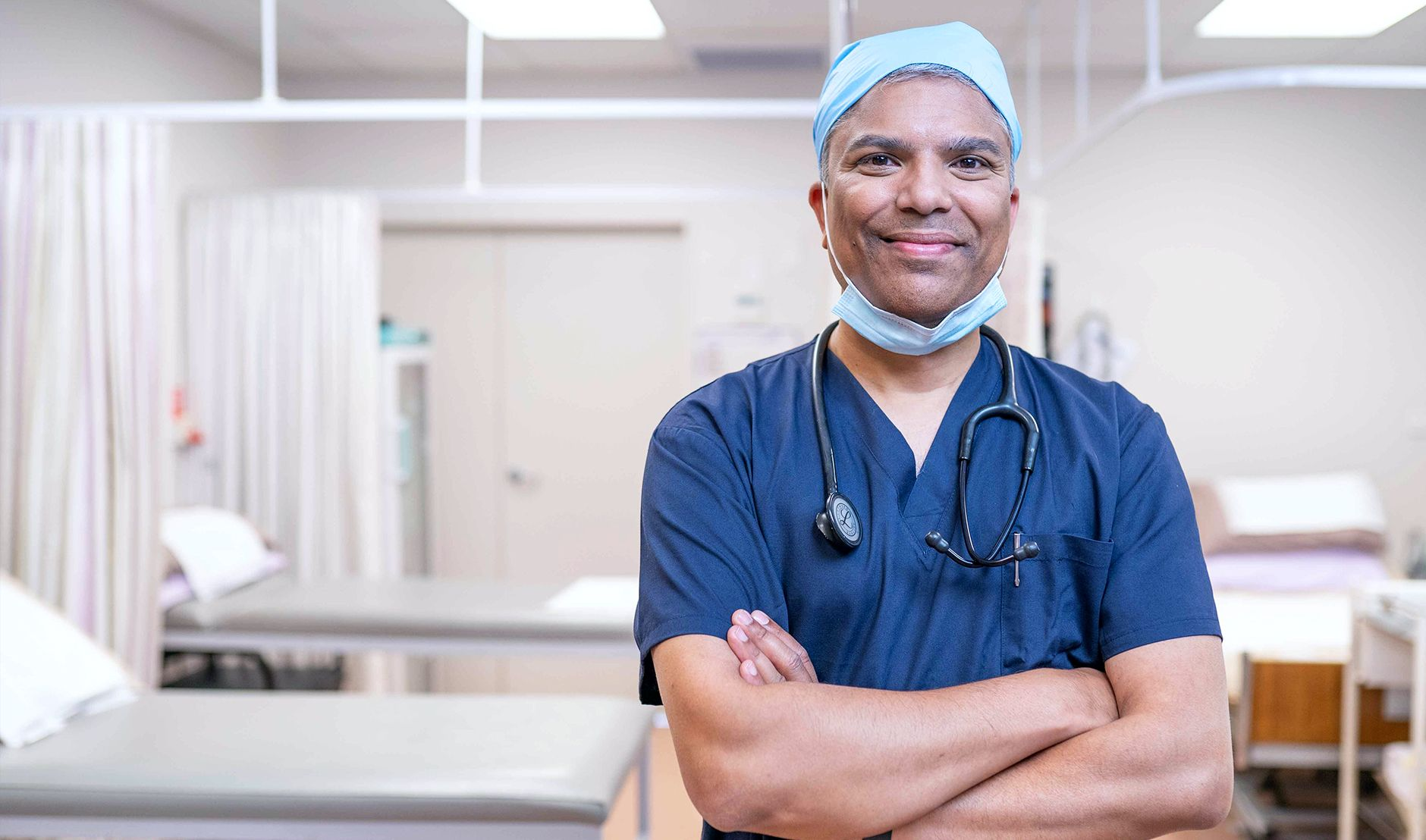 Dr Kevin Naidoo - working as a locum surgeon